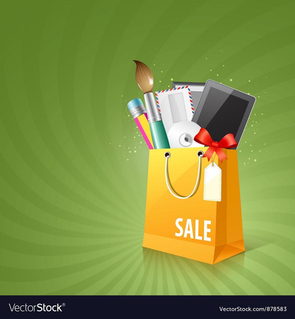 Art design bag vector image