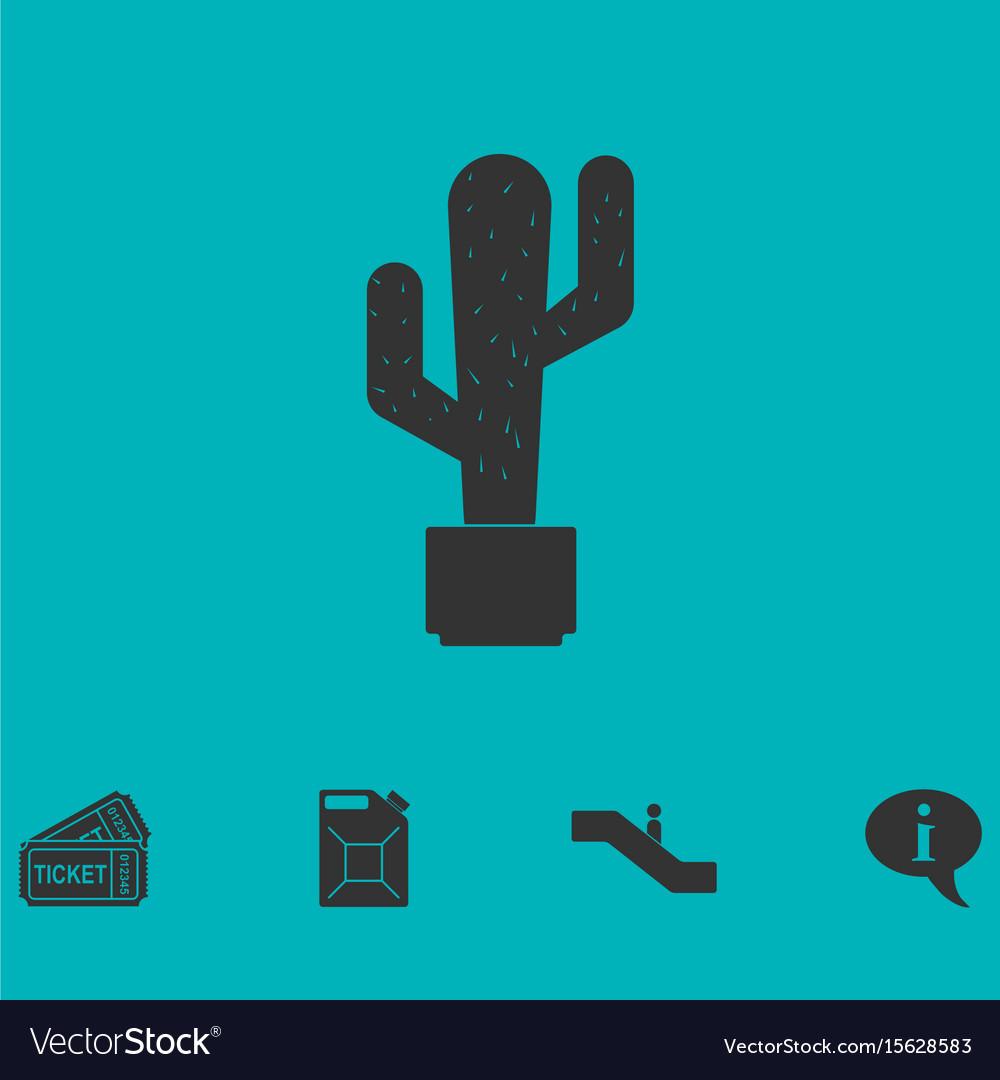 Cactus icon flat vector image