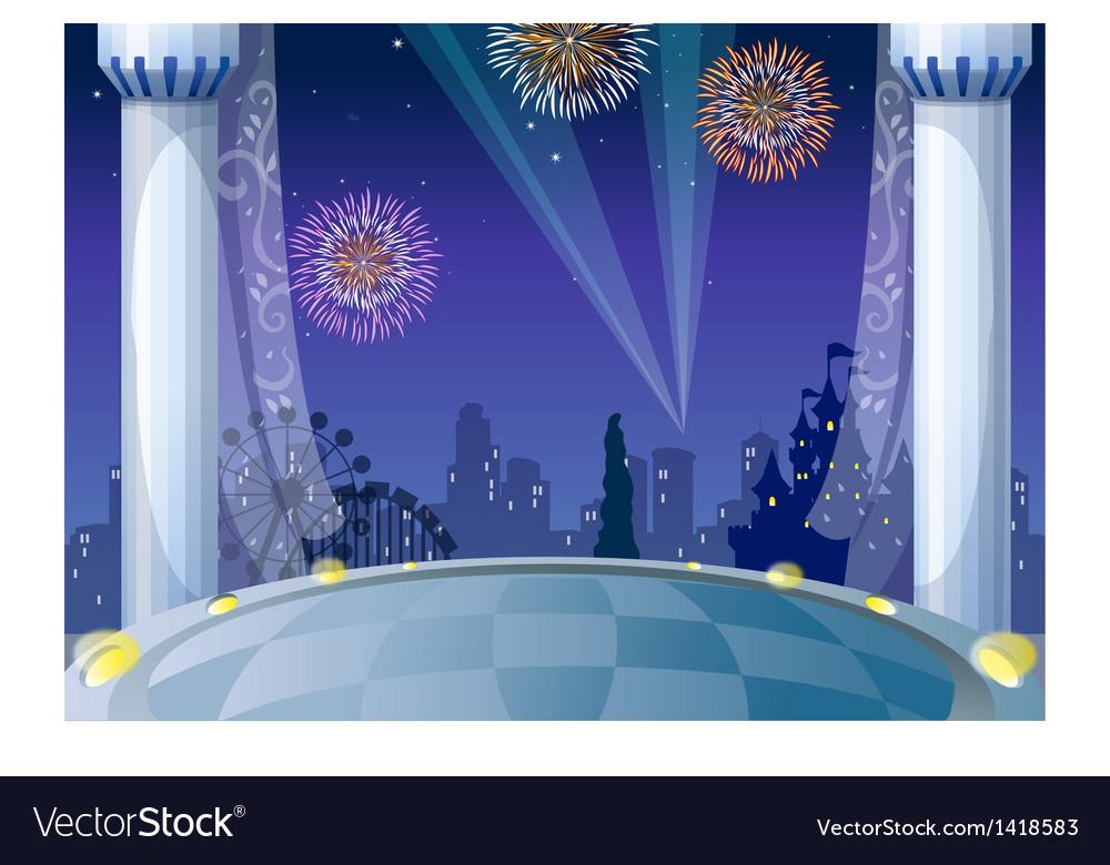 Castle City Background vector image
