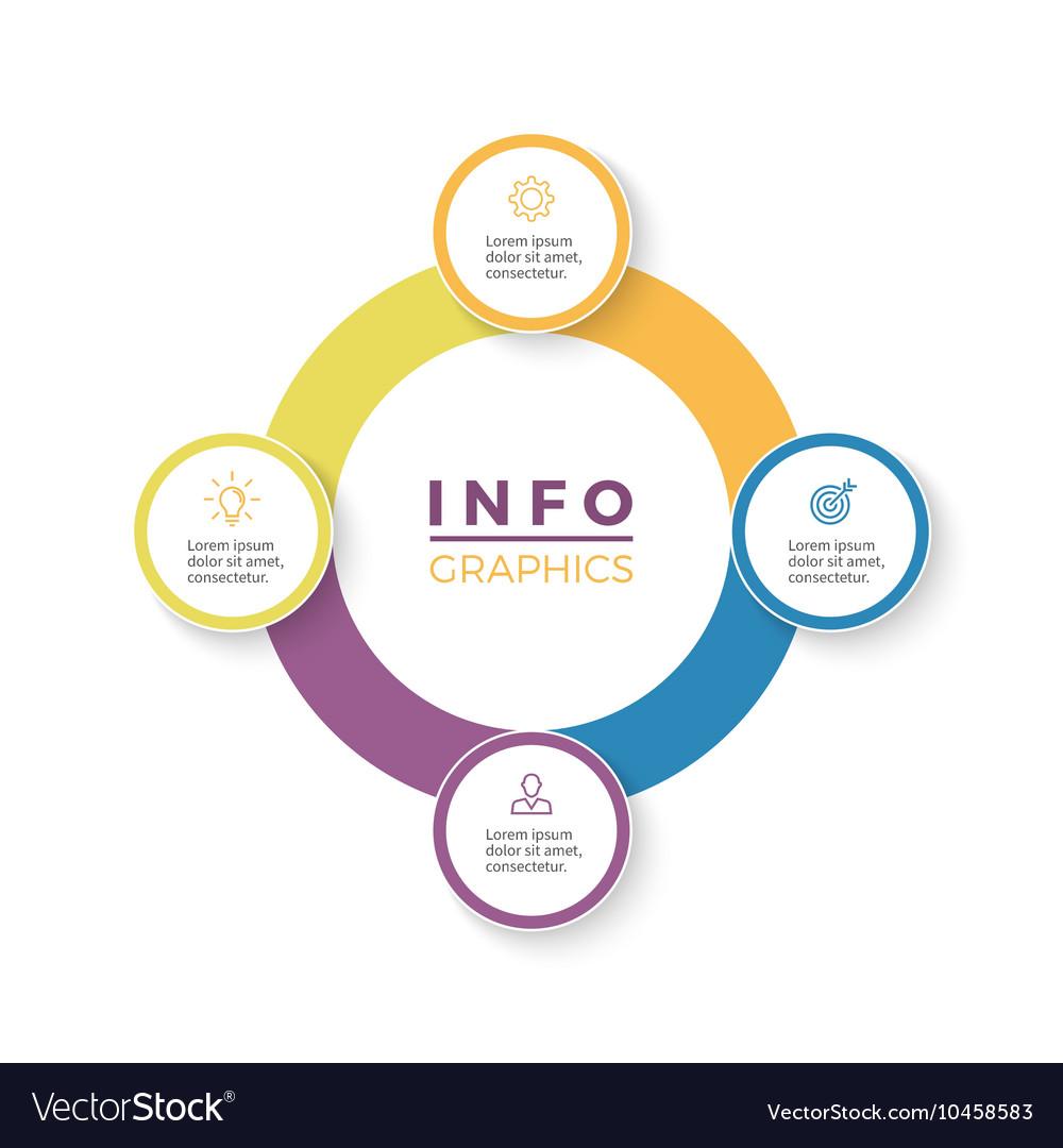 Four steps infographics design element vector image