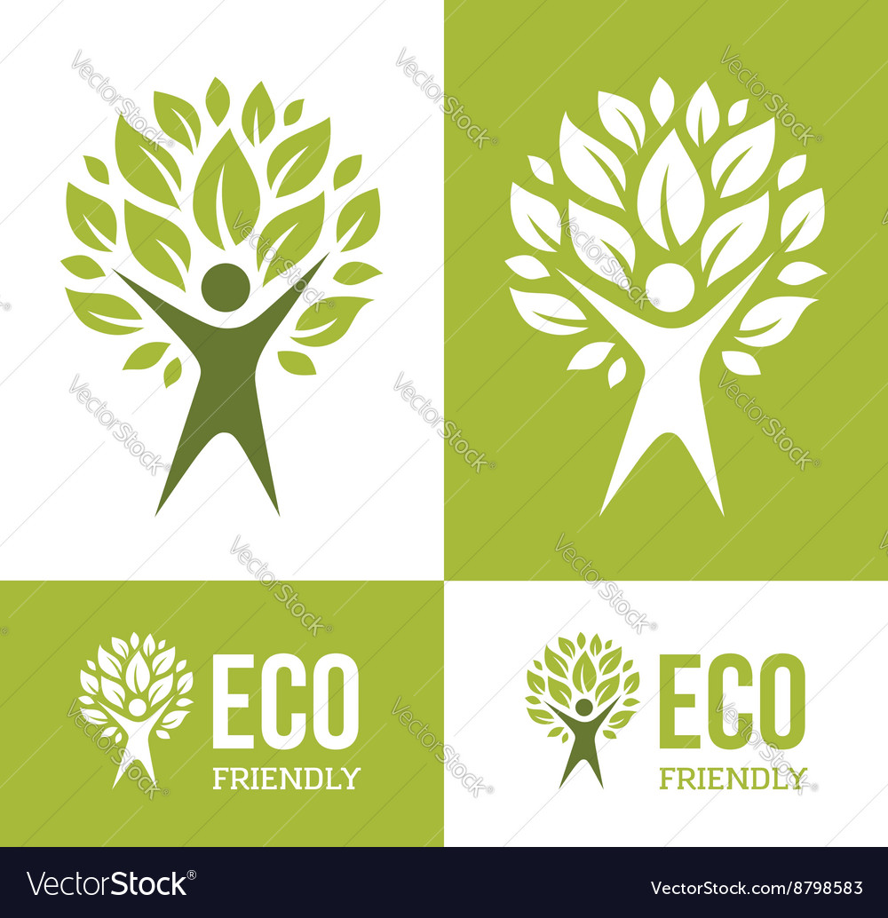 Green Man Tree vector image