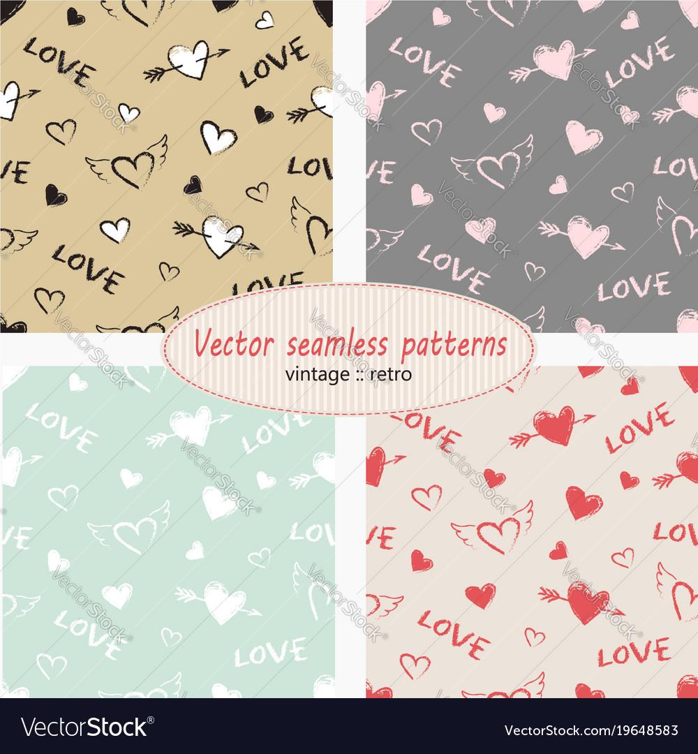 Hearts valentine day set