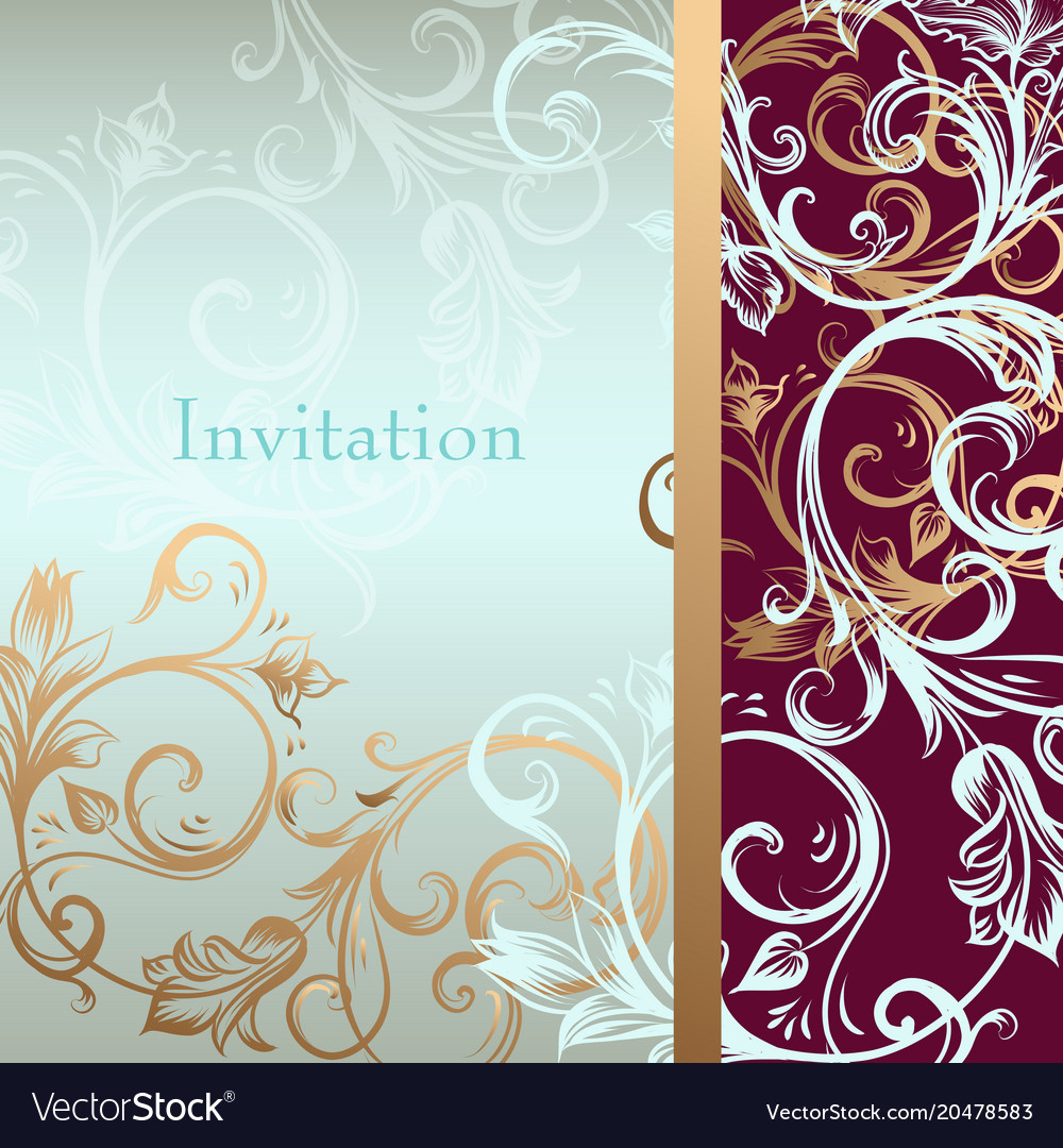 Invitation Card Or Background In Luxury Style
