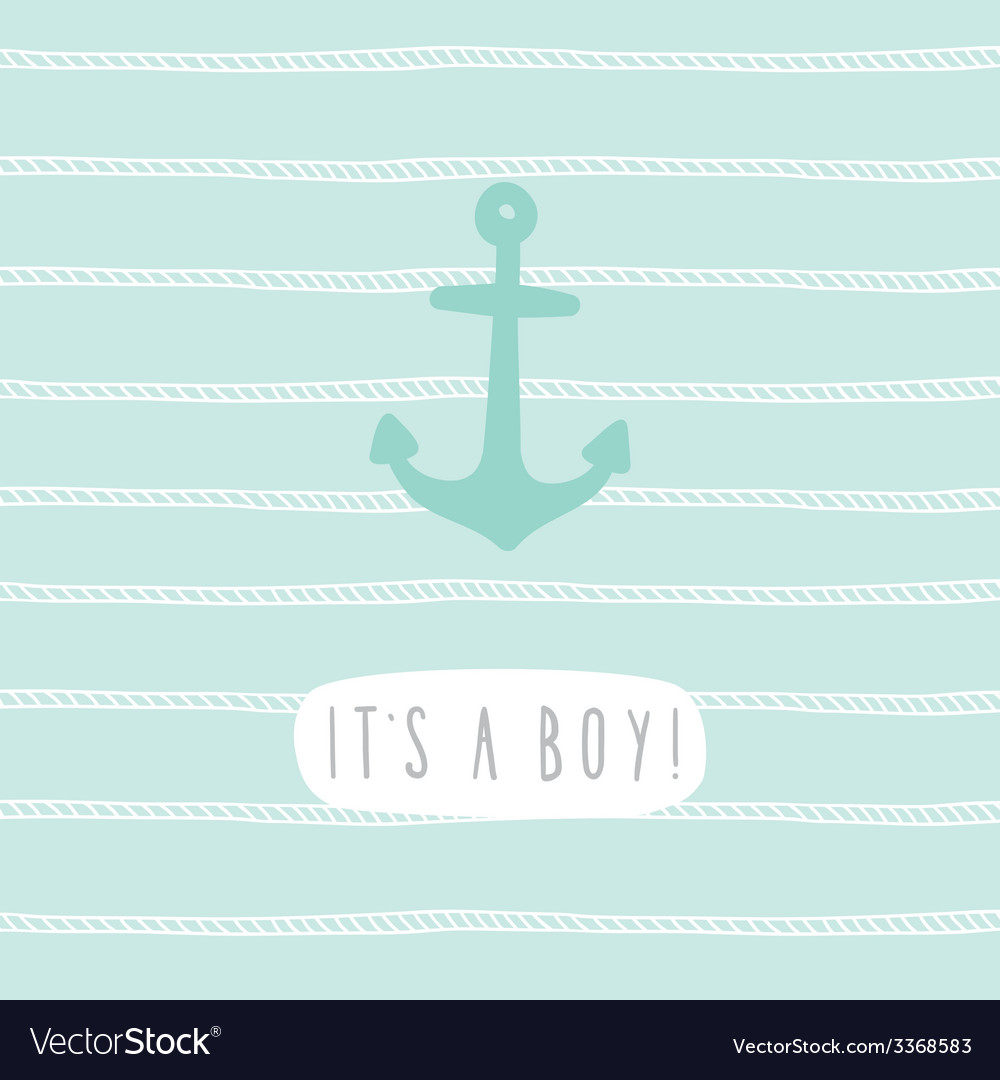 Its a boy Anchor greeting card template