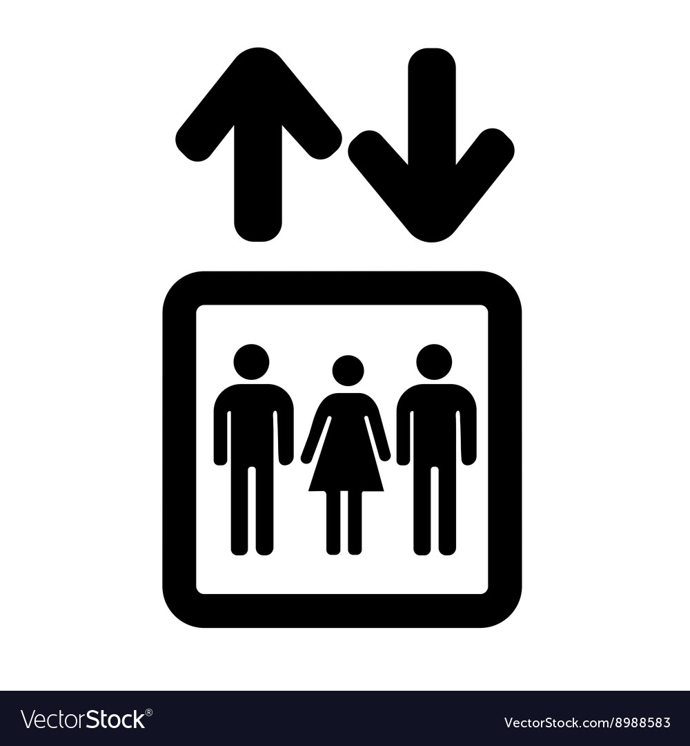 lift or elevator symbol on white background vector image