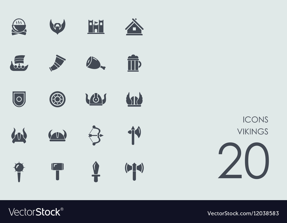 Set of Vikings icons