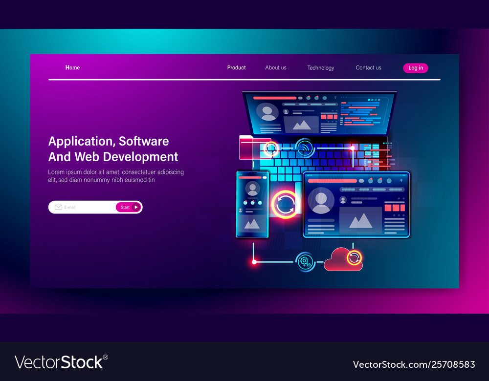 Software And Web User Interface Development Vector Image