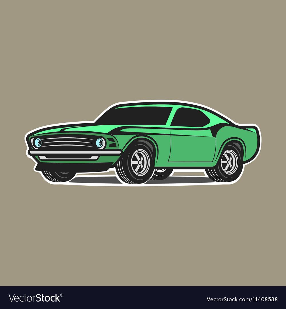 Cartoon Car Isolated on White Background