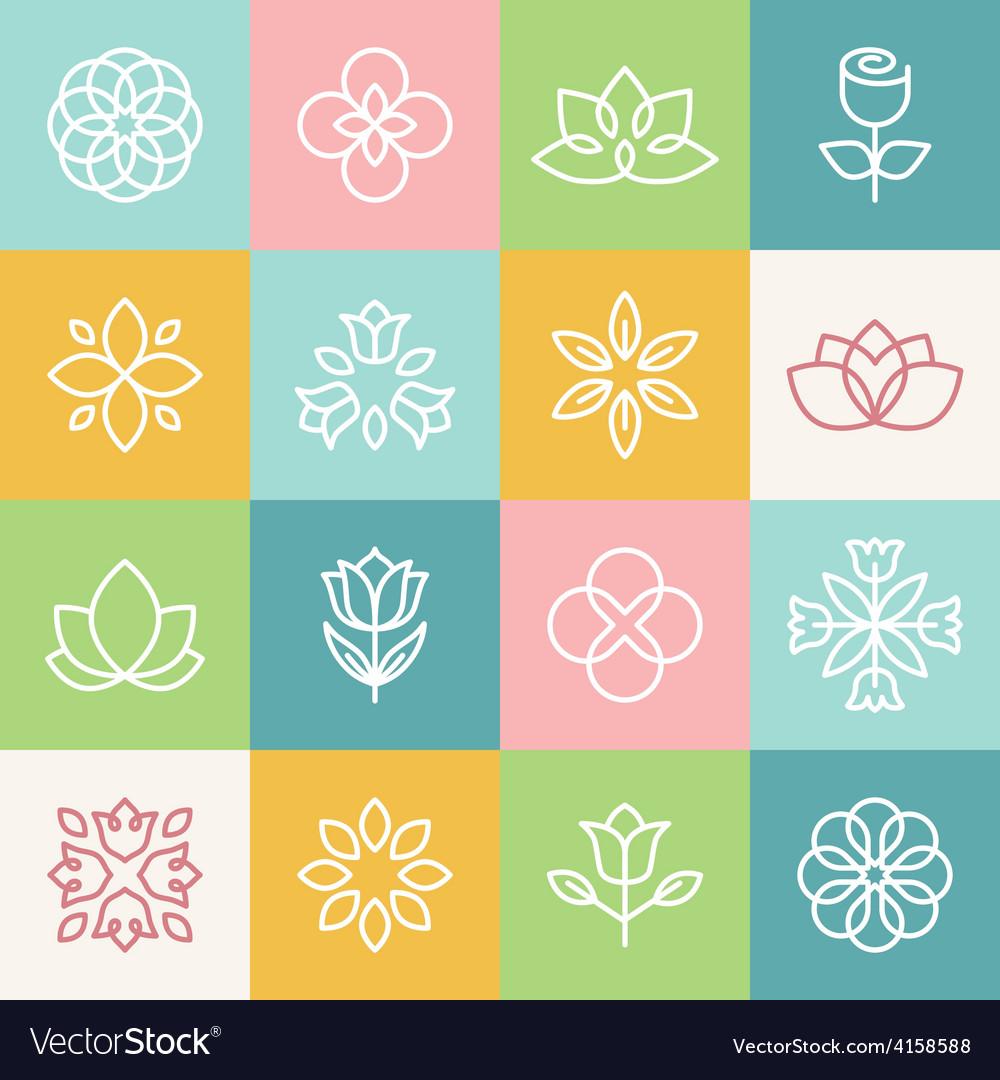 Ecology and organic logos