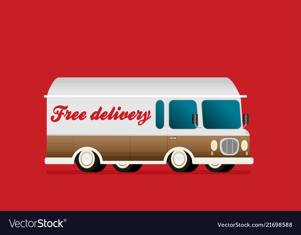 Free delivery concept in flat style - for banner