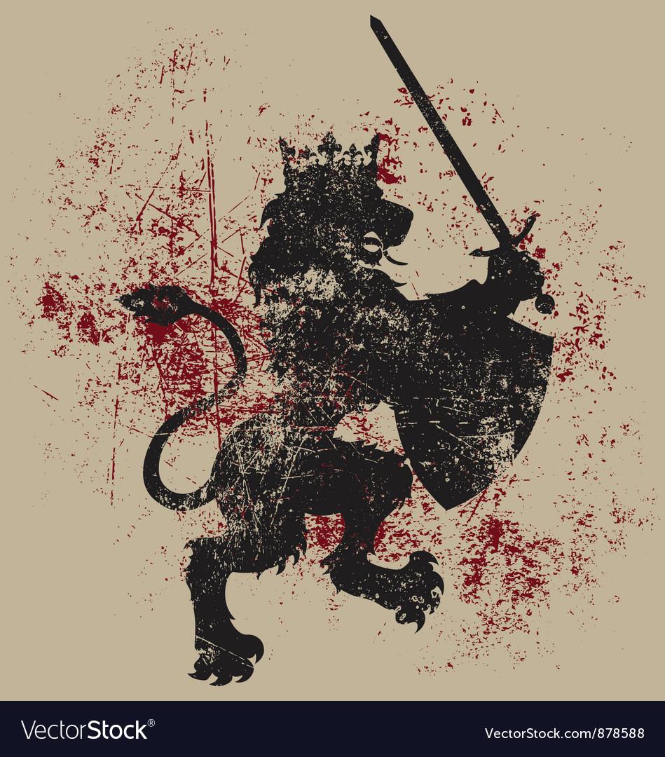Grunge Lion King Heraldry