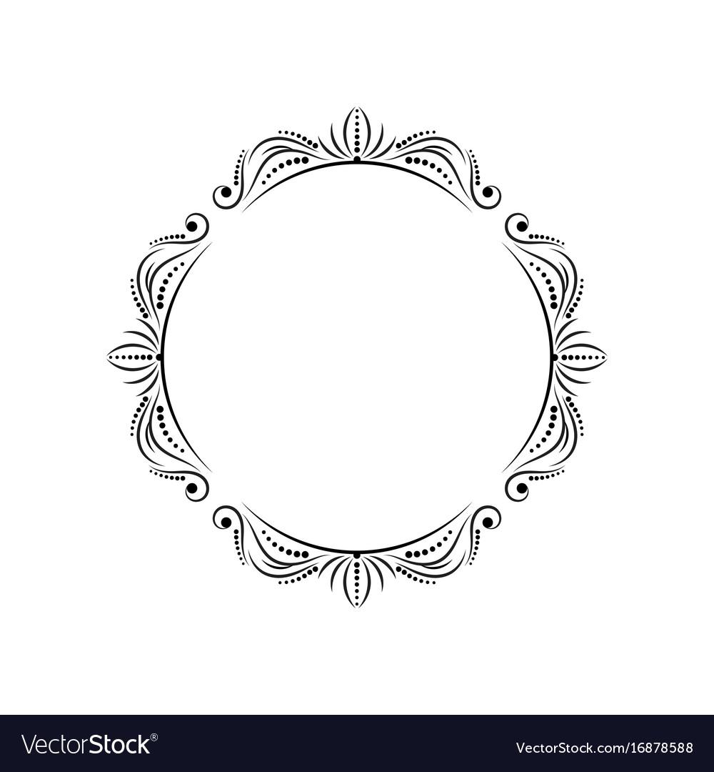 Round stylish vintage elegant frame