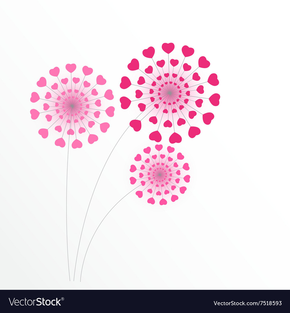 Abstract Heart Flower Background