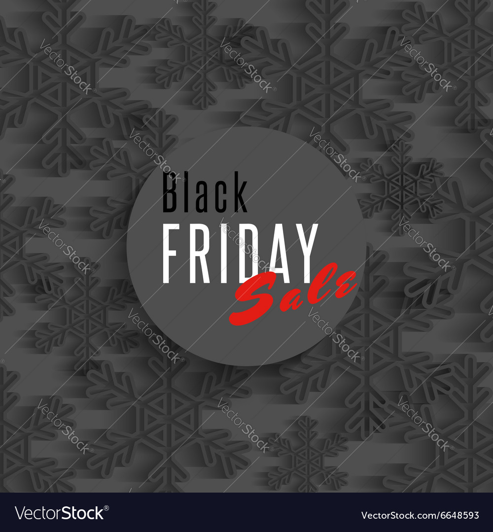 Black friday sale poster snowflakes and xmas