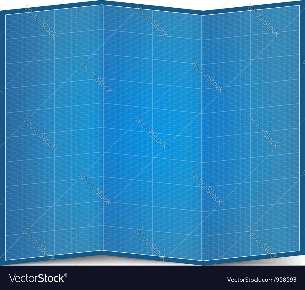 Folded blueprint paper royalty free vector image folded blueprint paper vector image malvernweather Choice Image