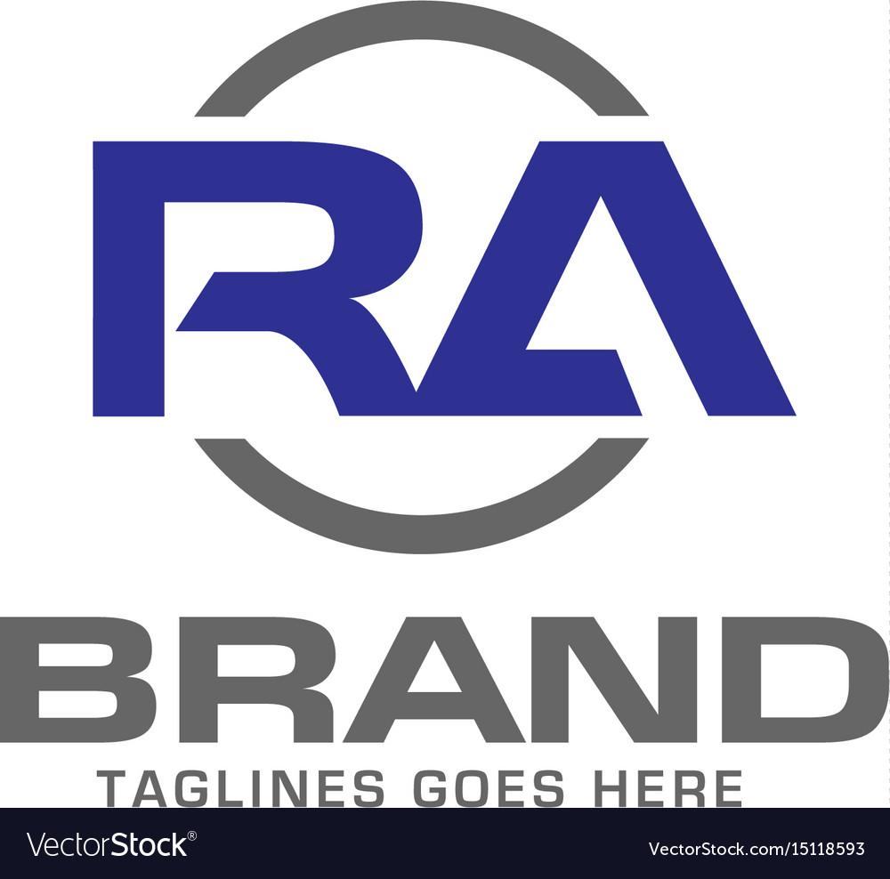 letter ra logo design royalty free vector image