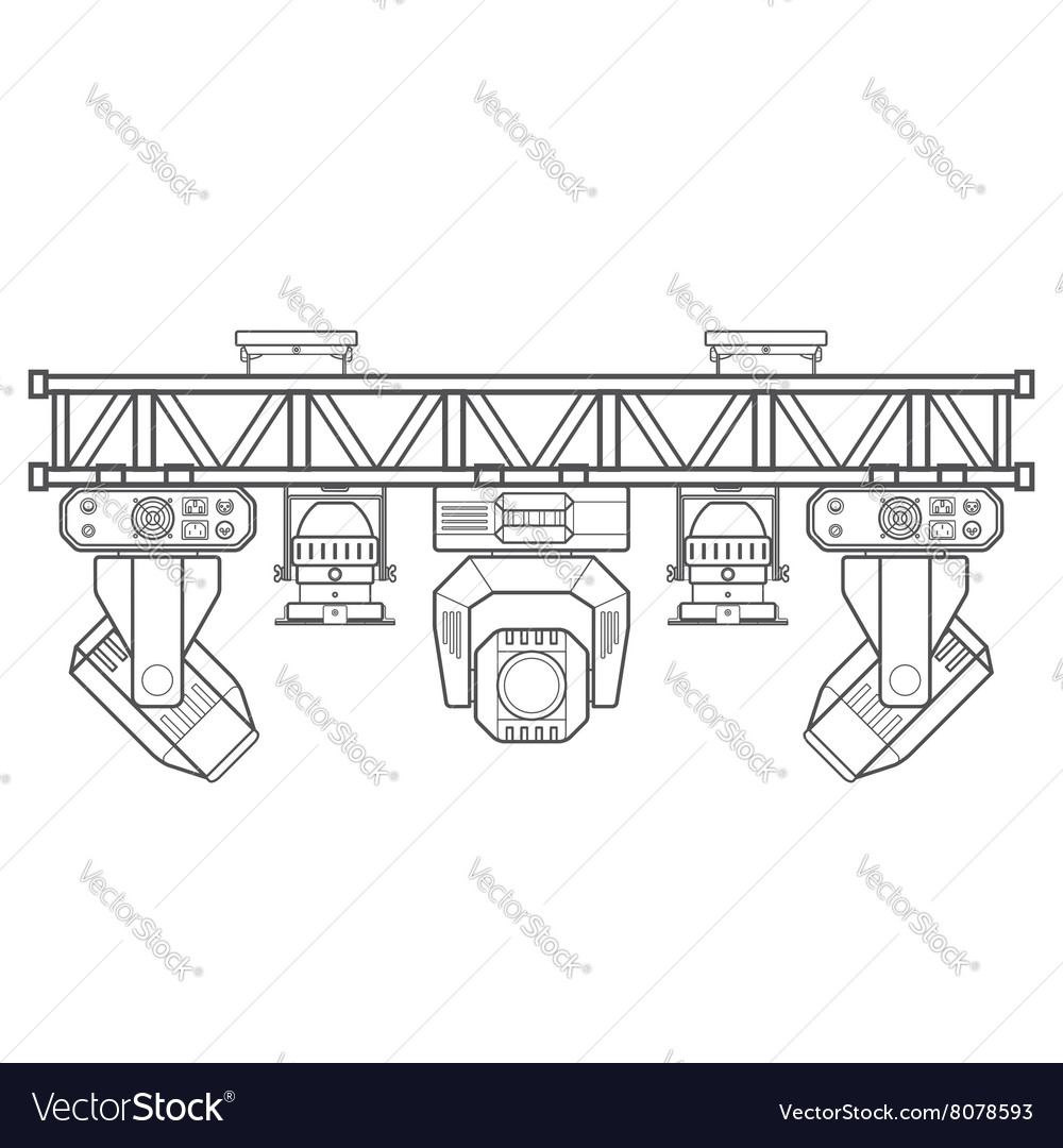 Outline stage metal truss concert lighting