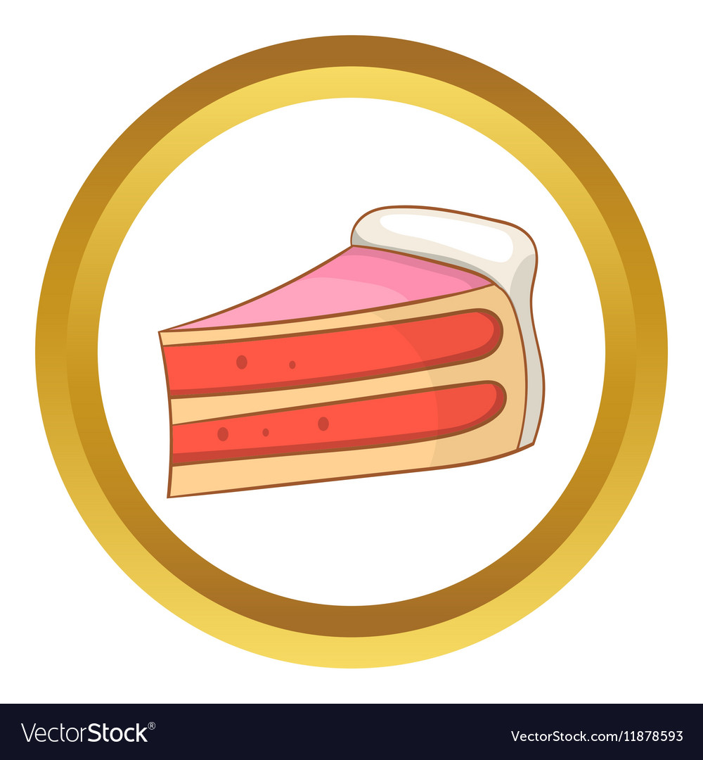 Pumpkin pie slice icon vector image