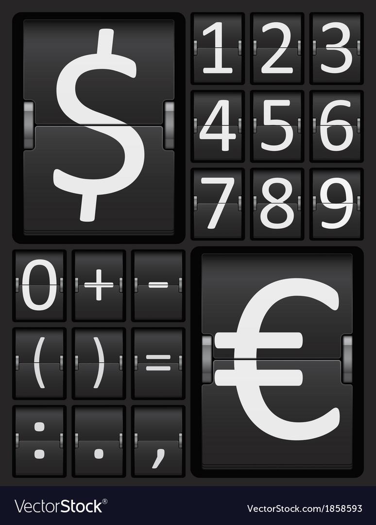 Scoreboard Mechanical Panel - Numbers vector image