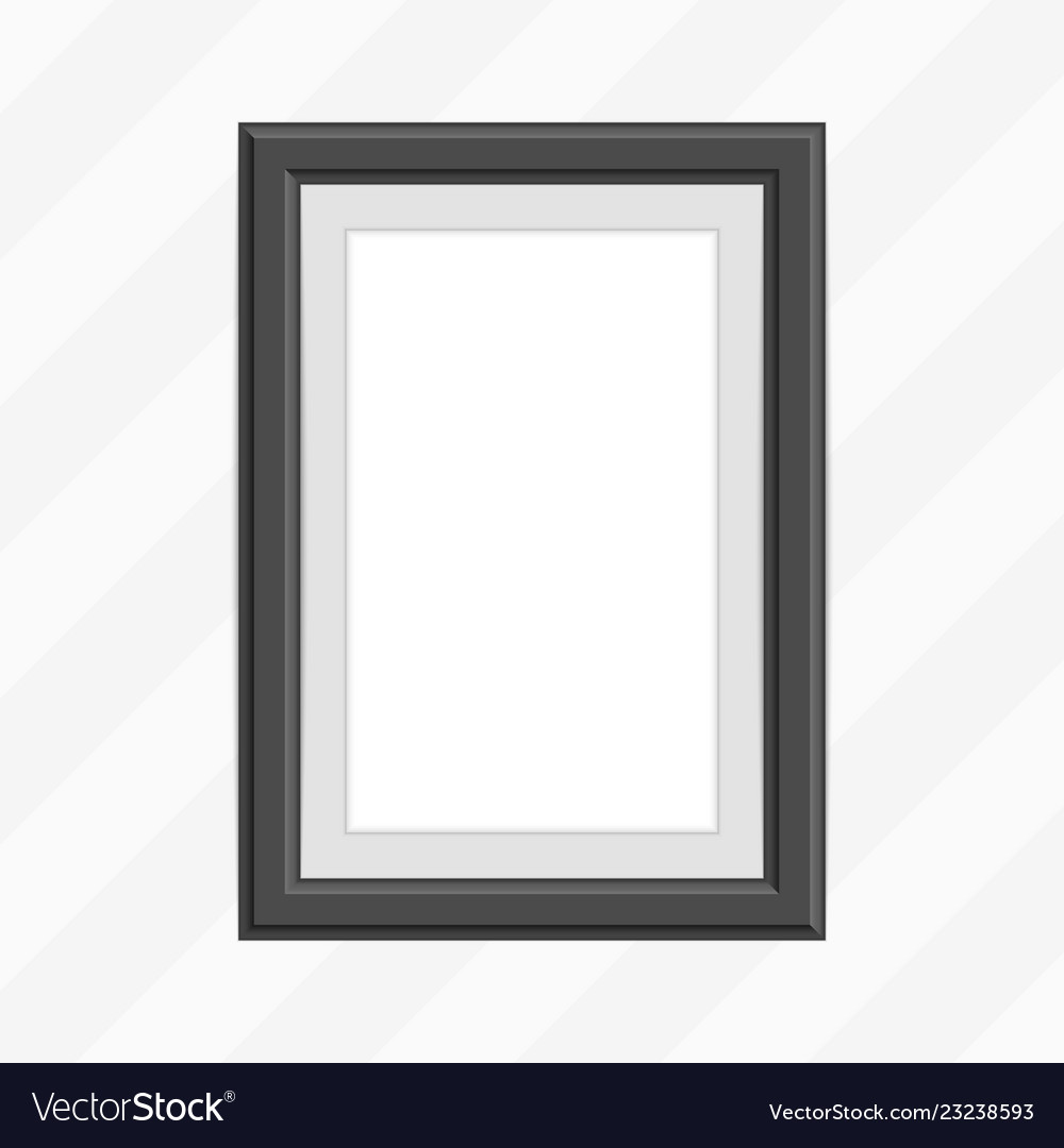 Single black photo frame