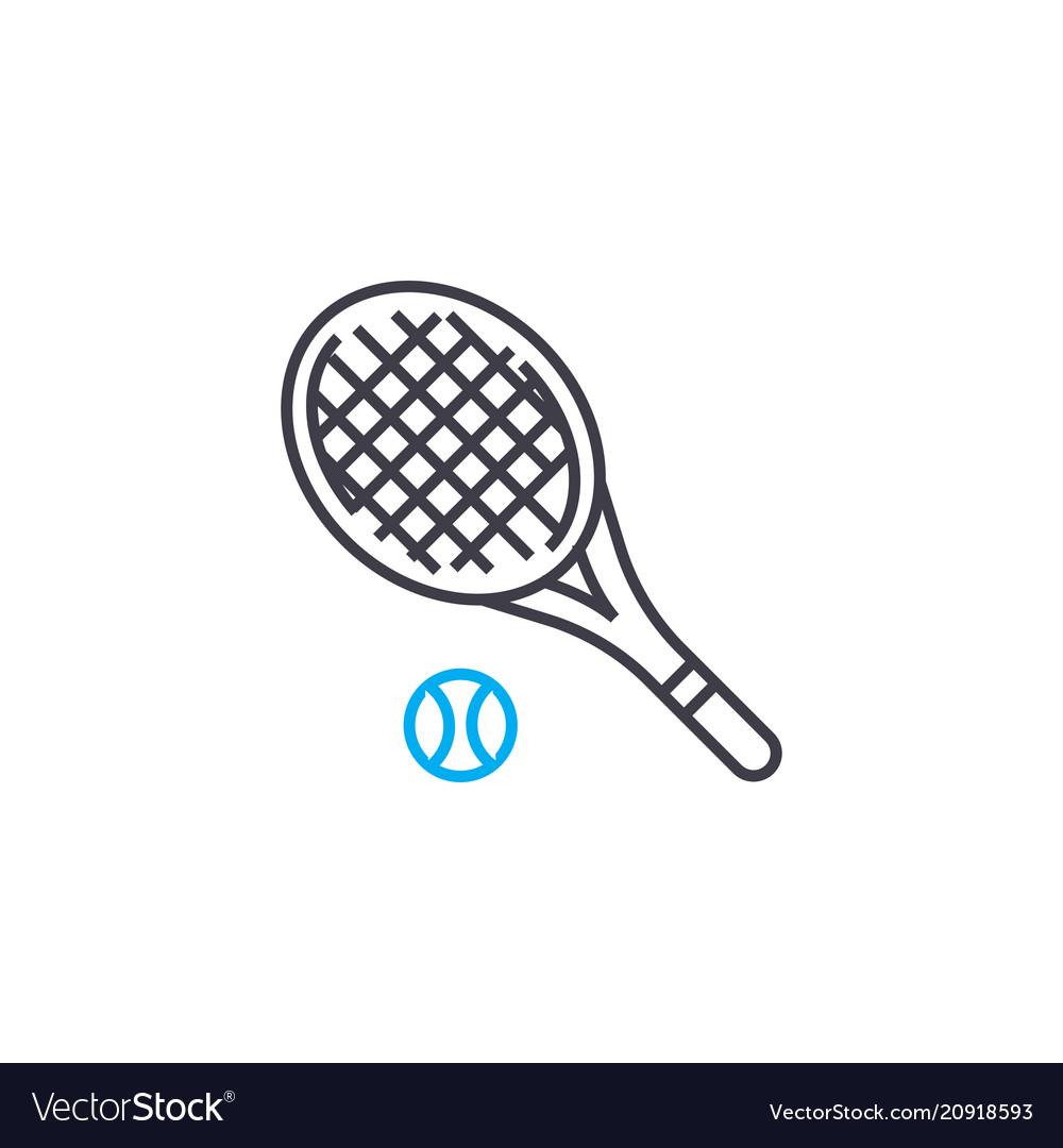 Tennis linear icon concept tennis line