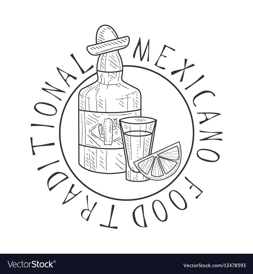 Traditional restaurant mexican food menu promo vector image