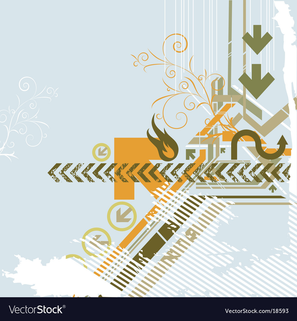 Urban background elements vector image