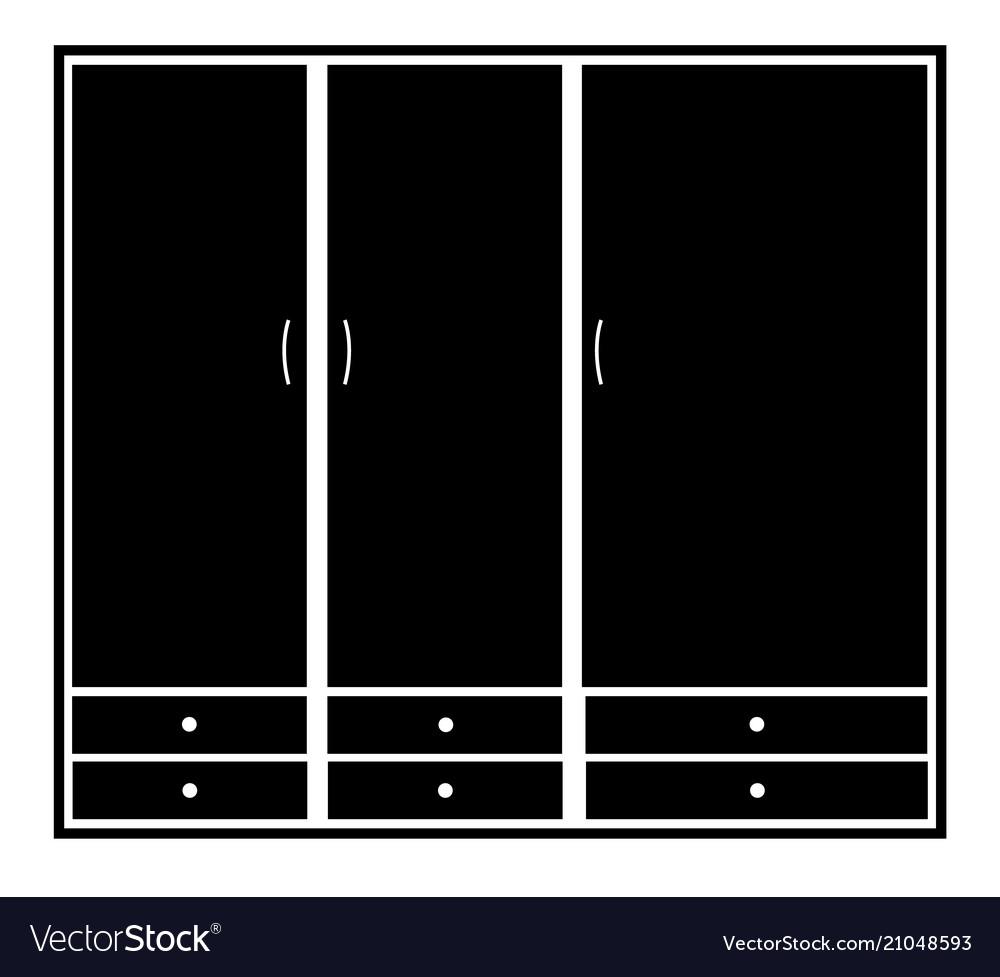 Wardrobe closet sign wardrobe icon on white