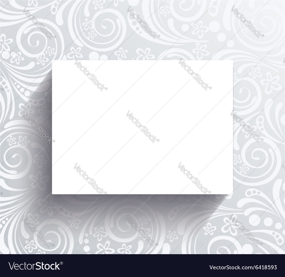 White banner on the wall with floral pattern