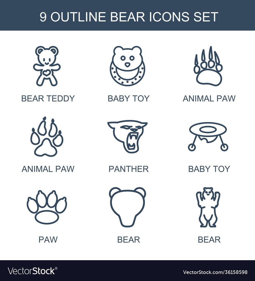 9 bear icons