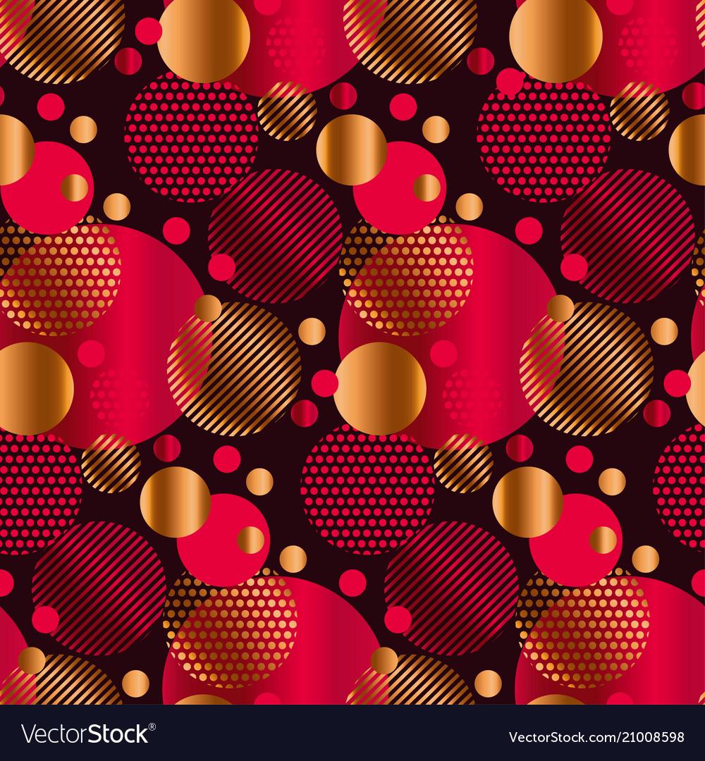 Abstract geometric xmas mood seamless pattern