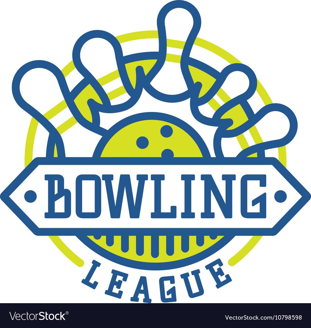 bowling logo emblems royalty free vector image rh vectorstock com bowling logo images bowling logos clip art