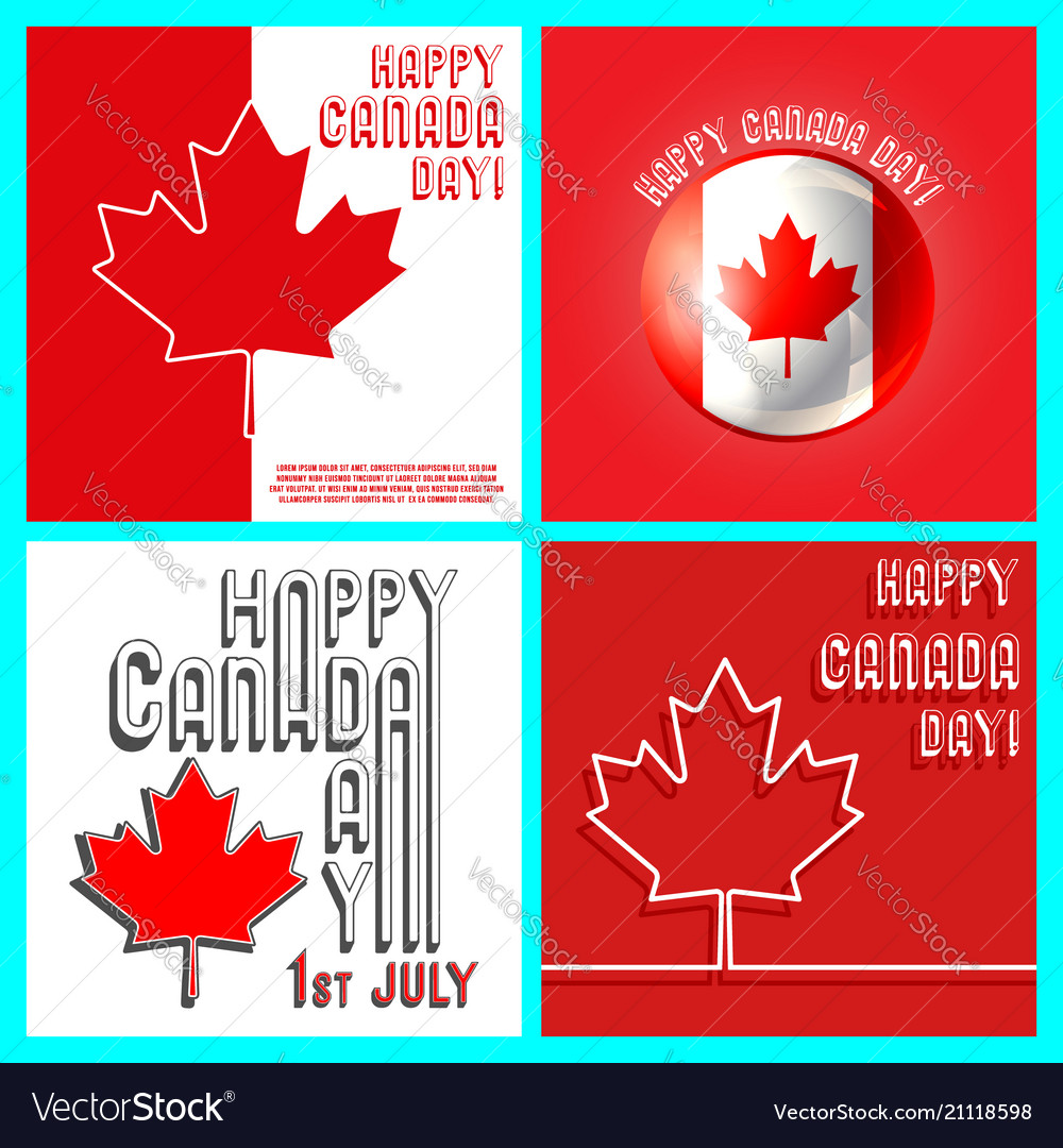 Canada day template set