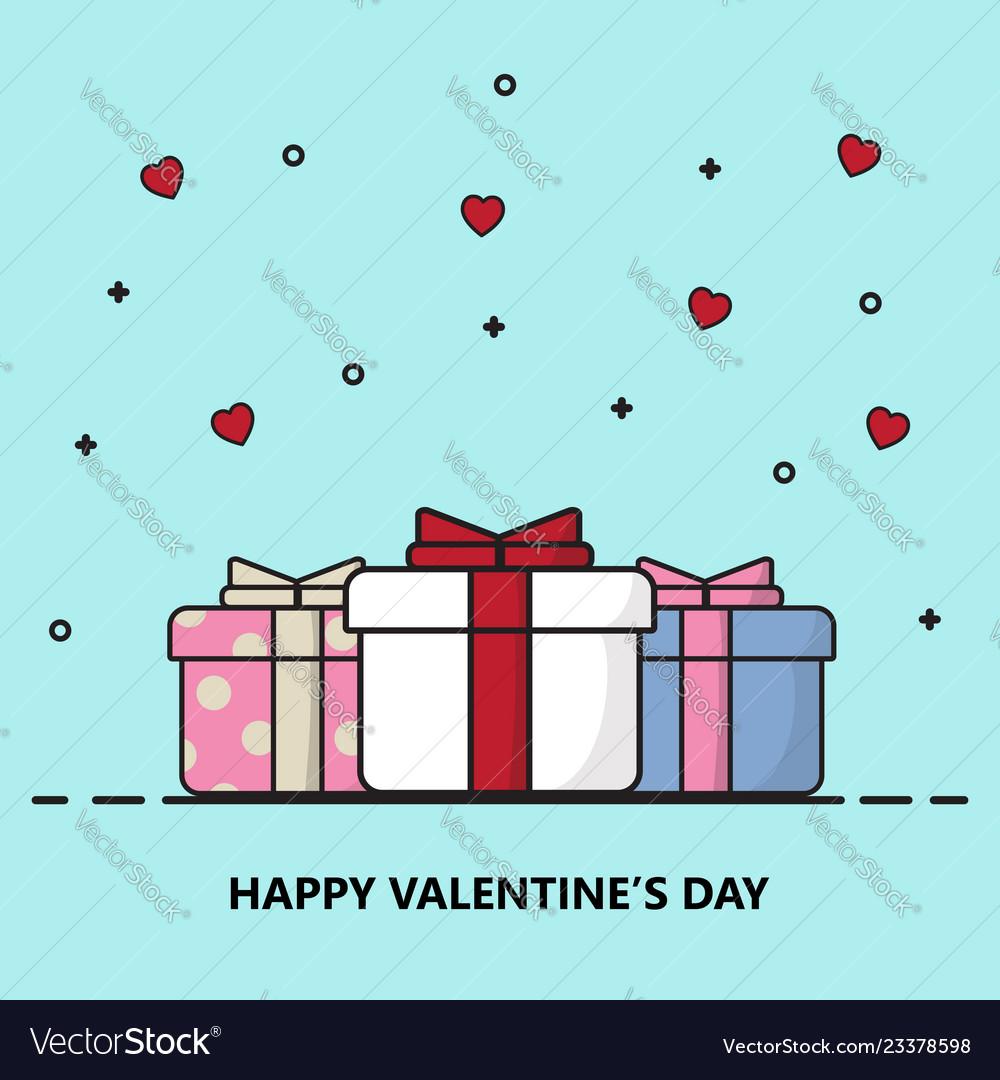 Creative happy valentines day postcard