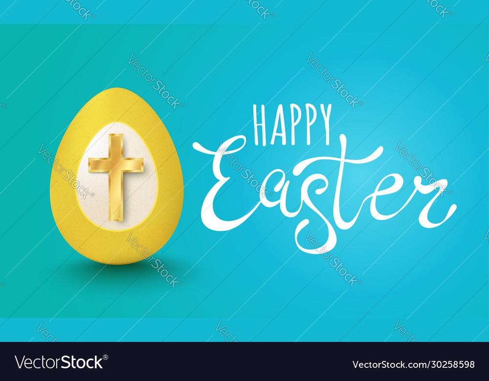 Egg with golden cross