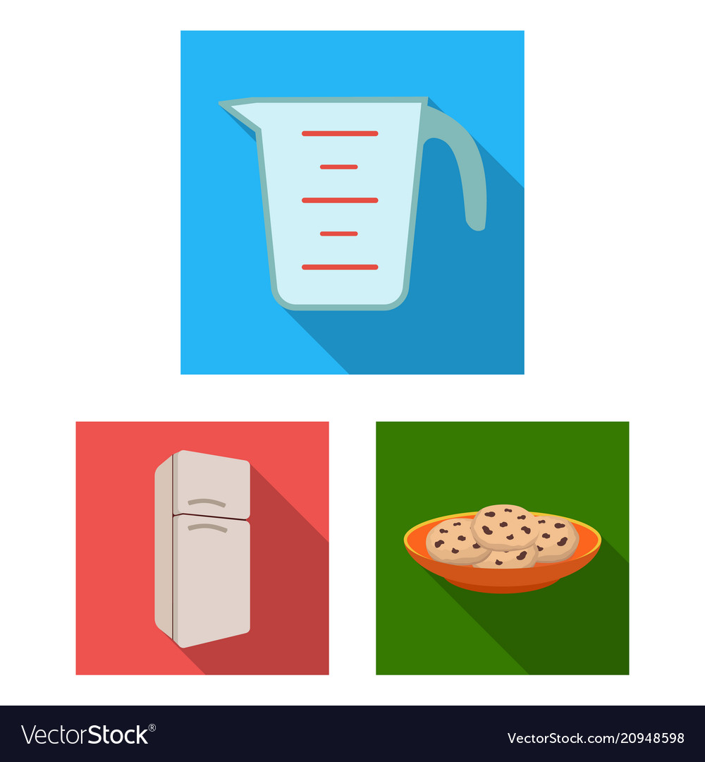 Kitchen equipment flat icons in set collection for