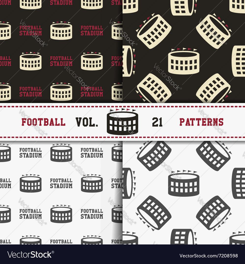 Set of american football patterns Usa sports