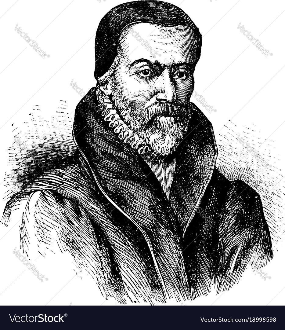 William tyndale vintage vector image