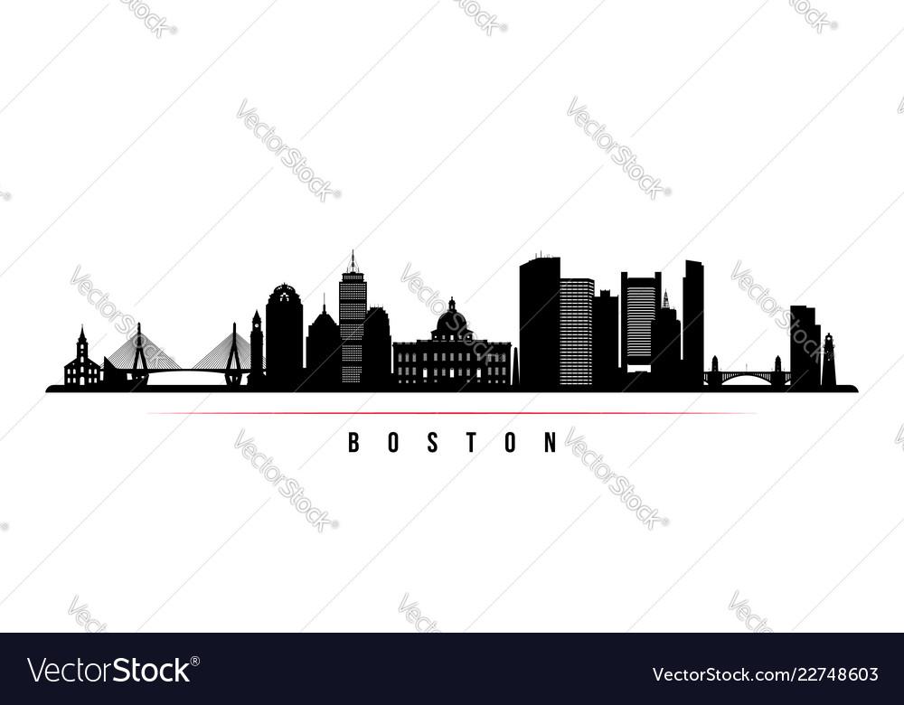 Boston city skyline horizontal banner
