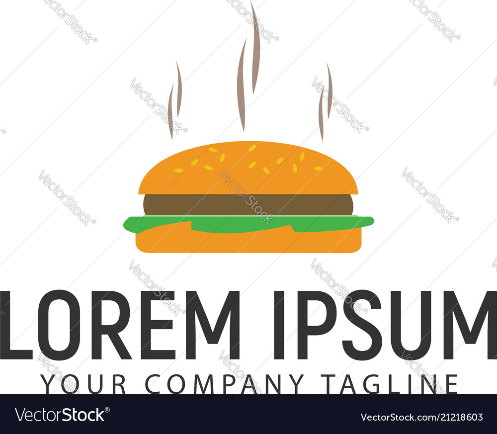Burger logo design concept template
