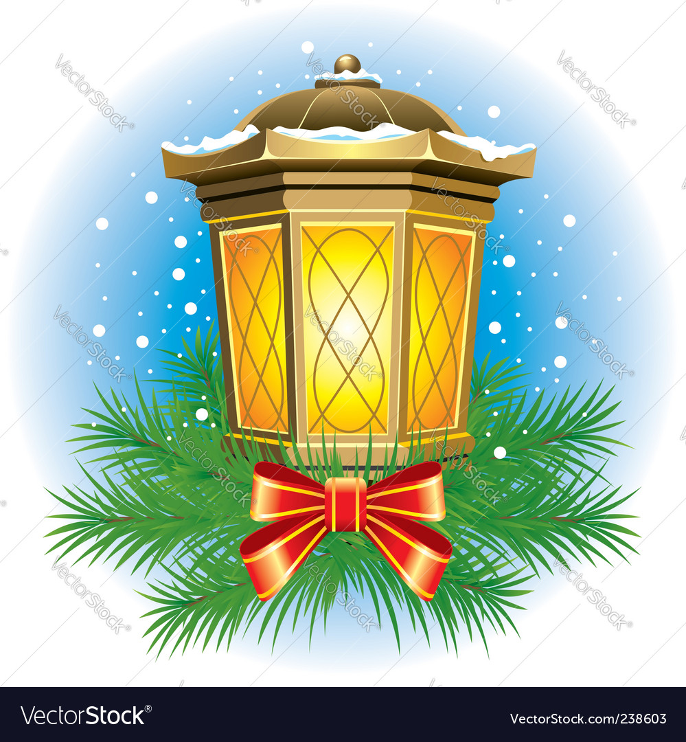 Christmas lantern Royalty Free Vector Image - VectorStock
