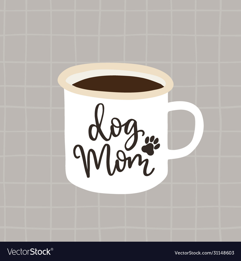 Dog mom birthday or mothers day greeting card