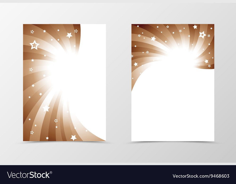 flyer template swirl design royalty free vector image