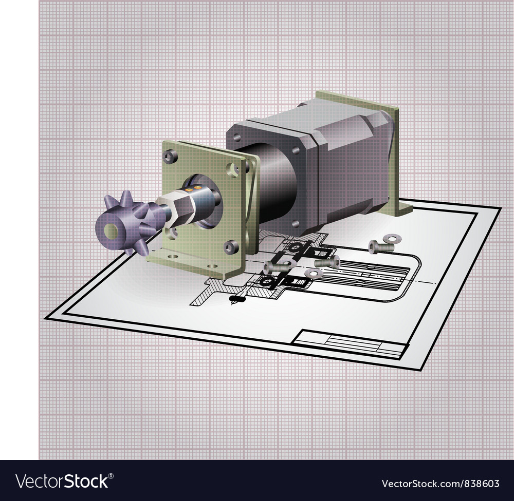 Machine Engine Assembly Royalty Free Vector Image Diagram