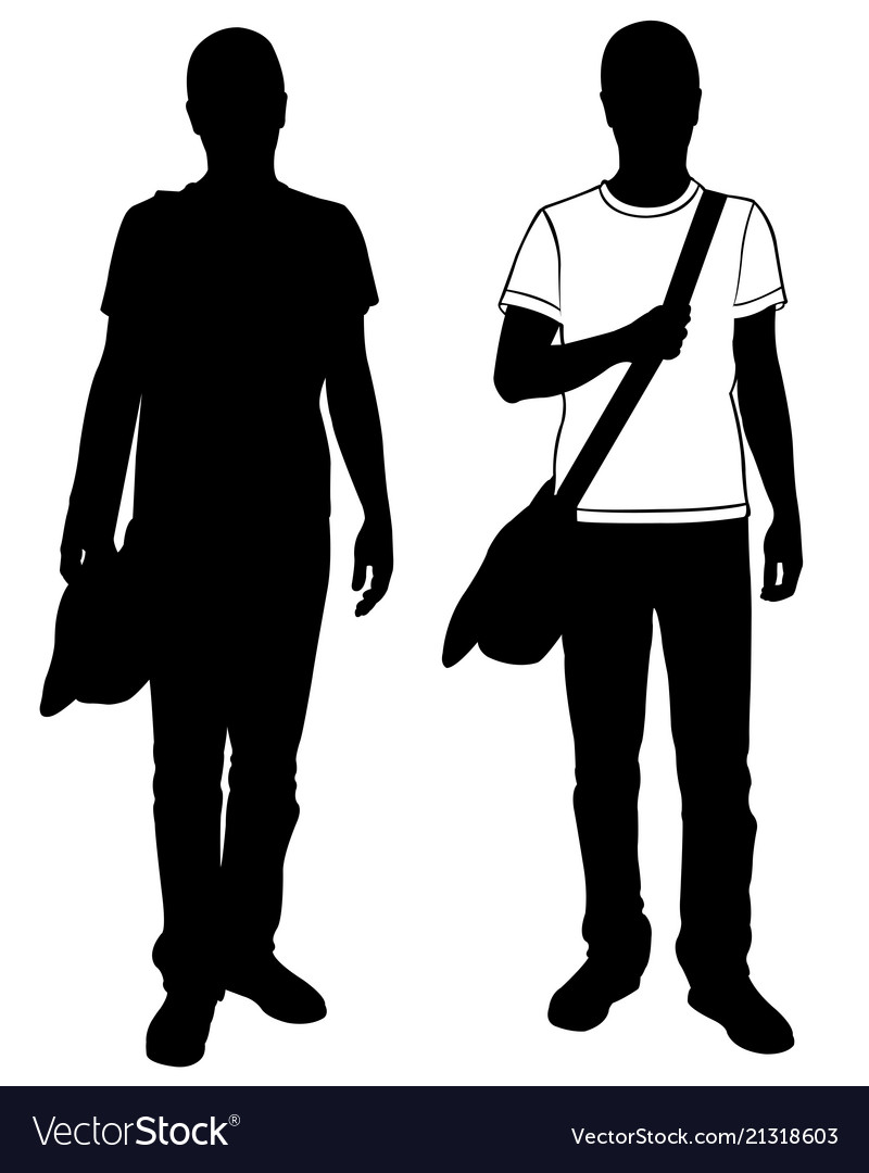 Men with bag on shoulder