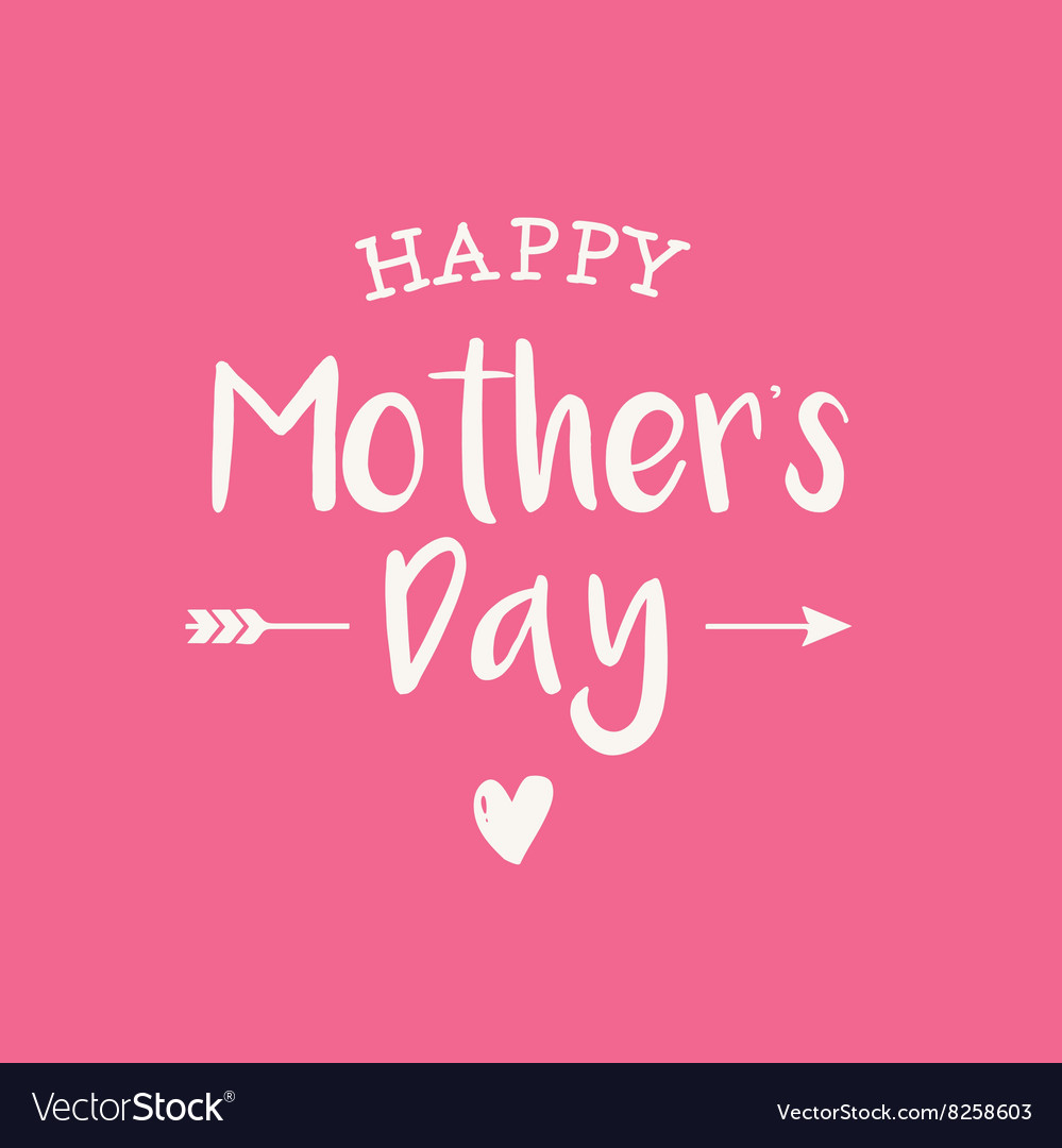 Mothers day card pink background vector image