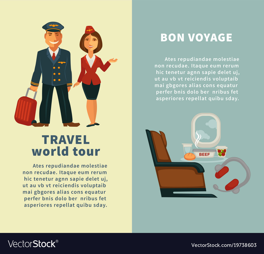 Travel world tour and bon voyage vertical posters