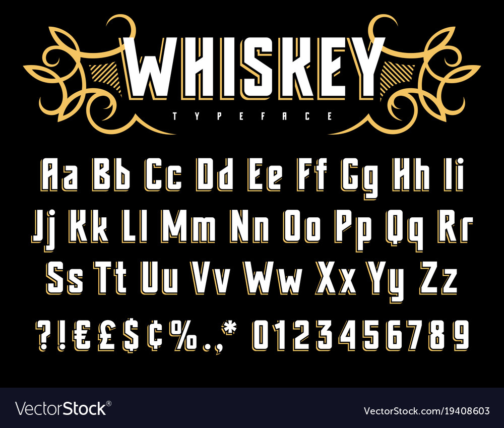 Whiskey label font 002