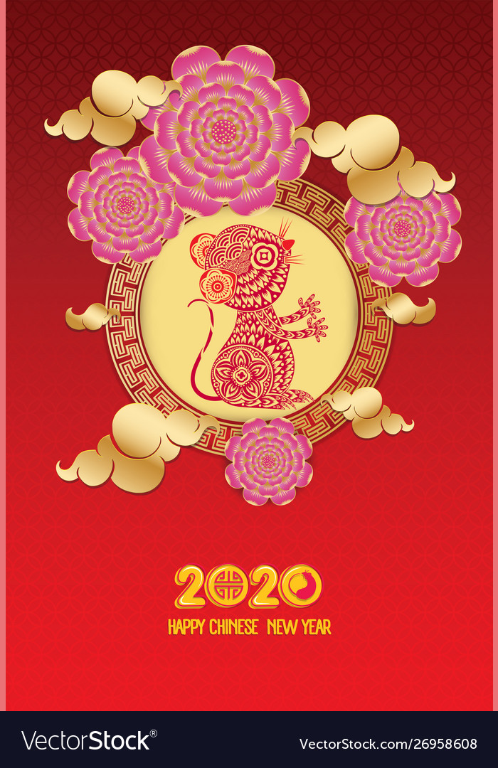 Chinese New Year 2020 Year Of The.Chinese New Year 2020 Year Rat Red And