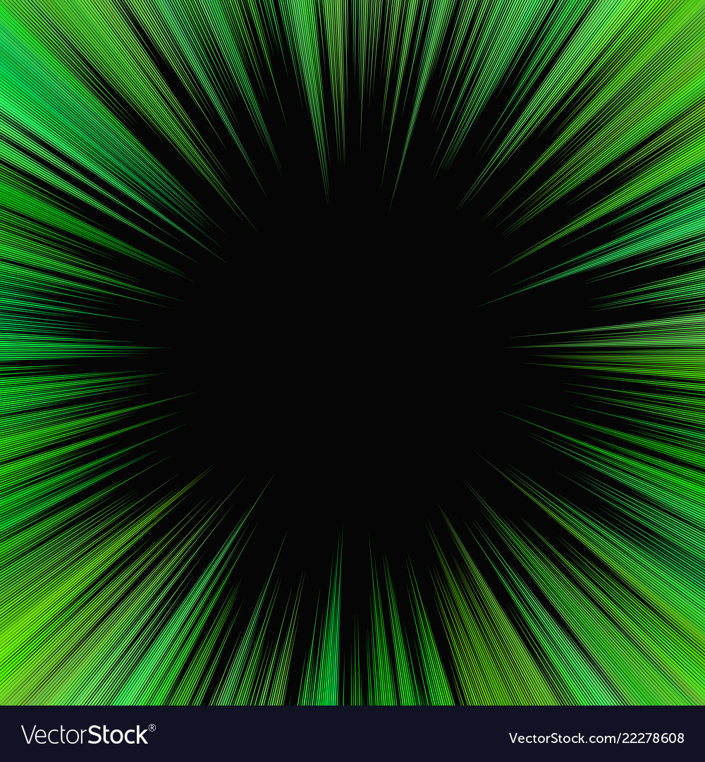 Green psychedelic abstract star burst background
